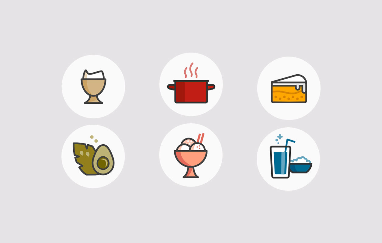 Millas Mat food icons